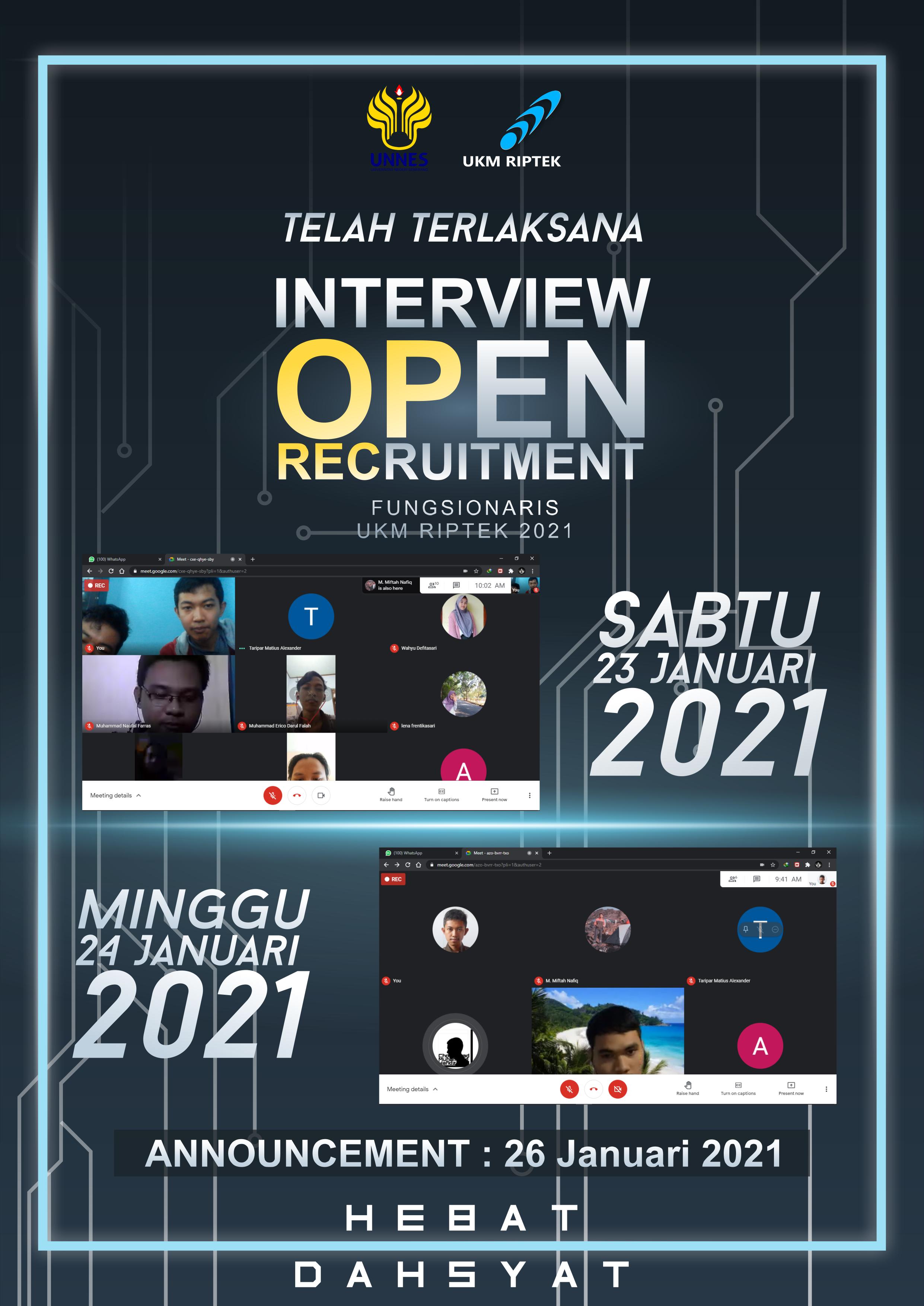 Oprec Online 2021